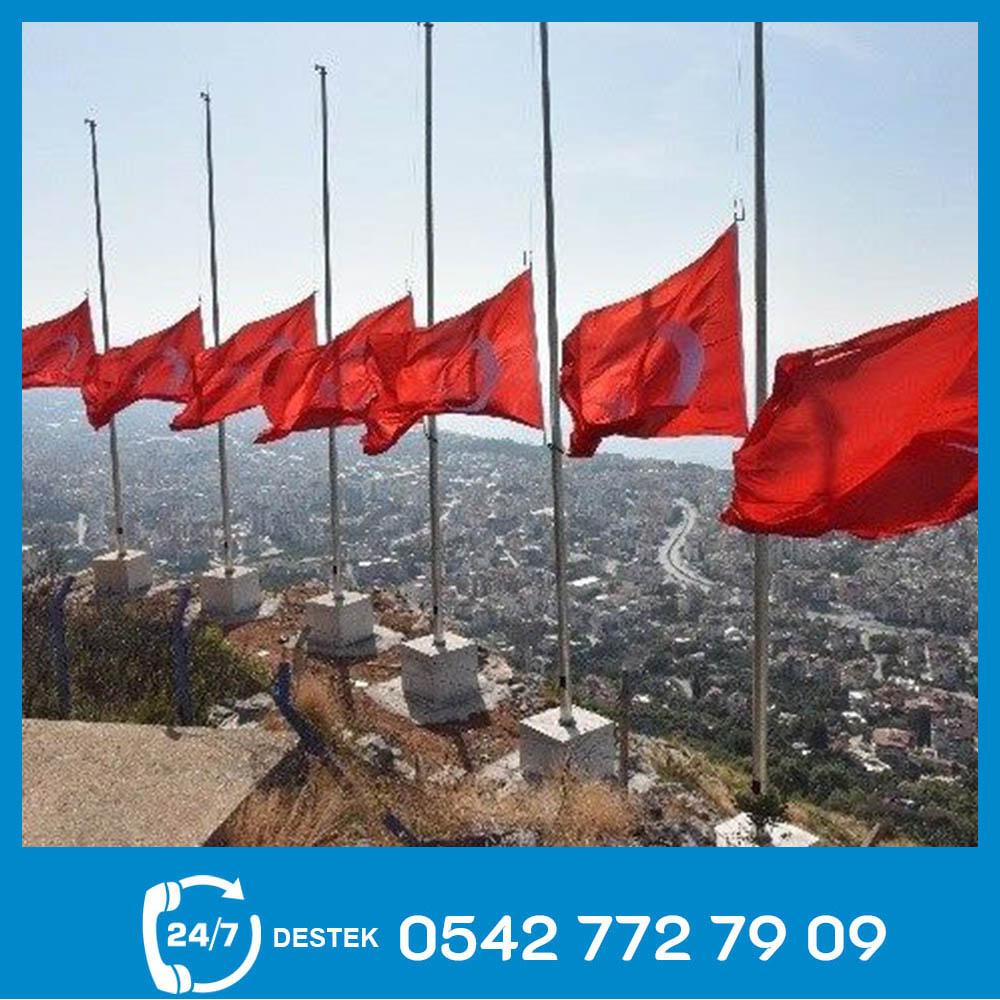 Galvaniz Bayrak Direği 06